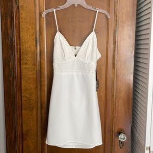 Lulus White Dress with Lace